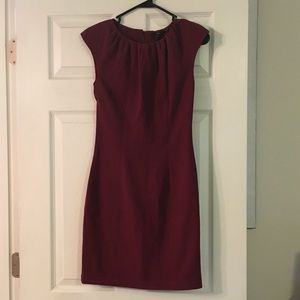 H&M Burgundy Midi Dress 🌹